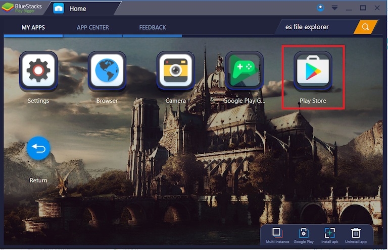 How can I check Google Play purchases on BlueStacks