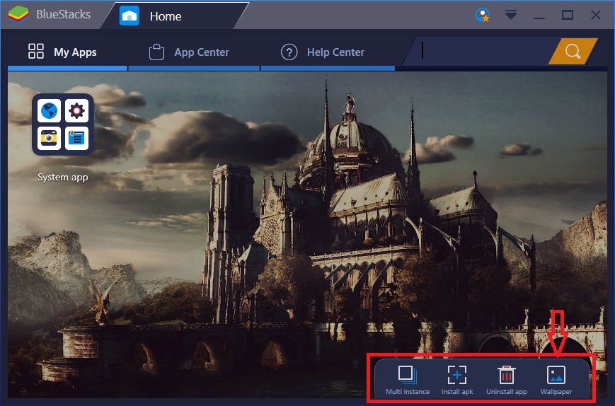 Users With Non Premium Account Will Be Redirected To The BlueStacks Subscription Page If They Click On Wallpaper Button