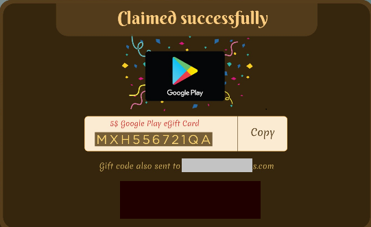 How can you redeem the Google Play eGift Card won in