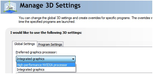 How can I switch to dedicated graphics card to enhance visual
