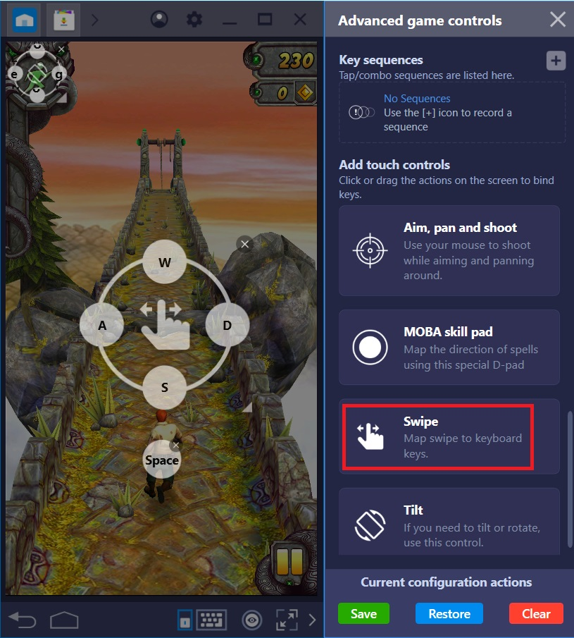 How to create new keyboard controls for a game on BlueStacks