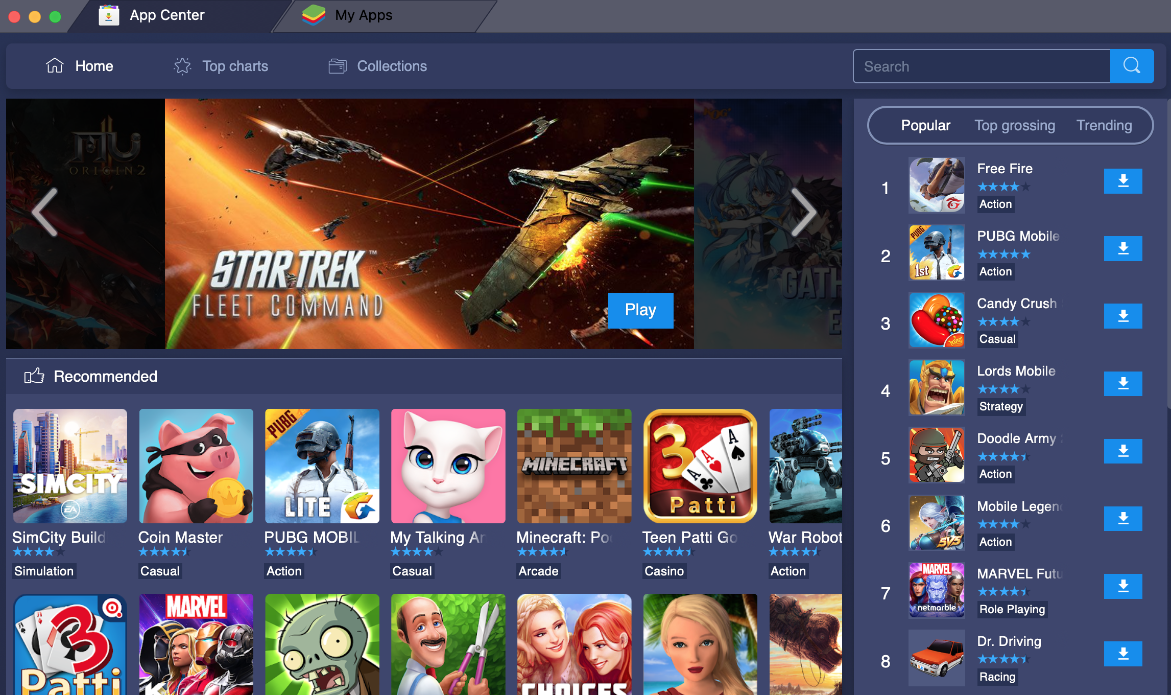 BlueStacks App Player for Mac OS X 4.270.0.2810 full