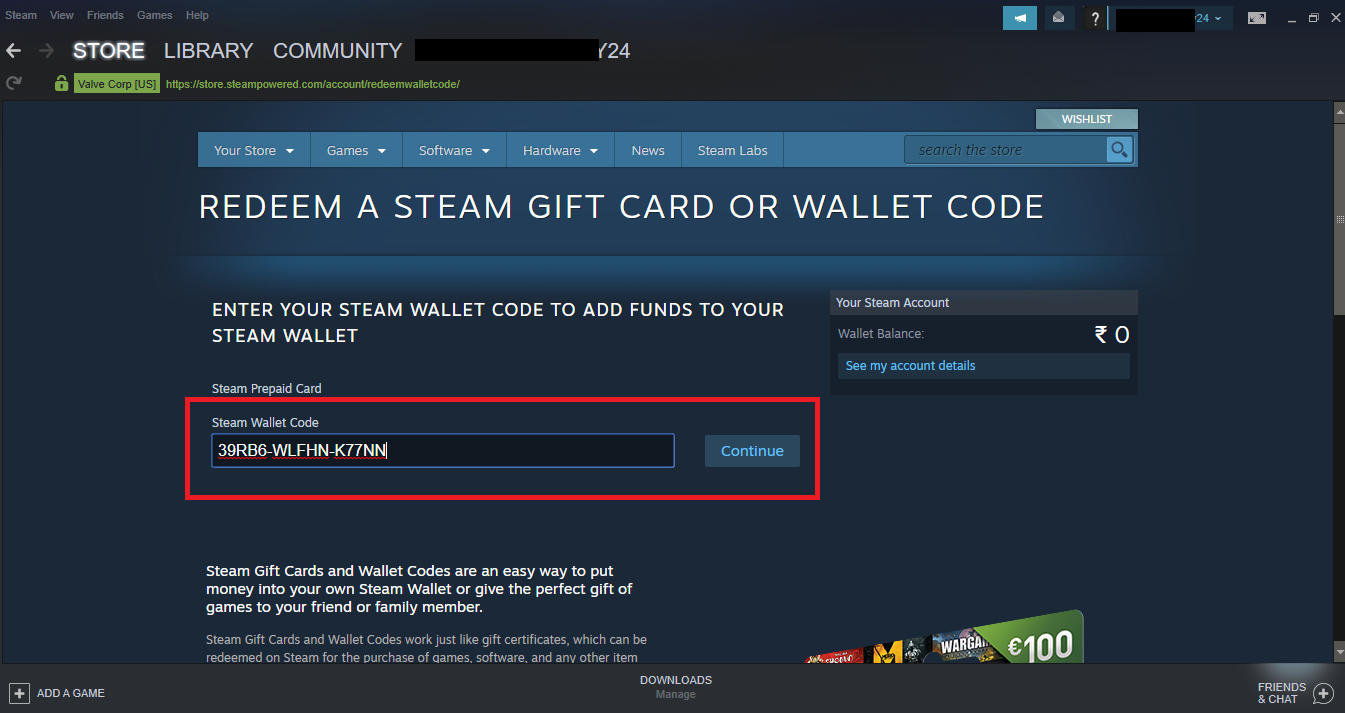 Steam Support - Retail CD Keys - Managing Your Library