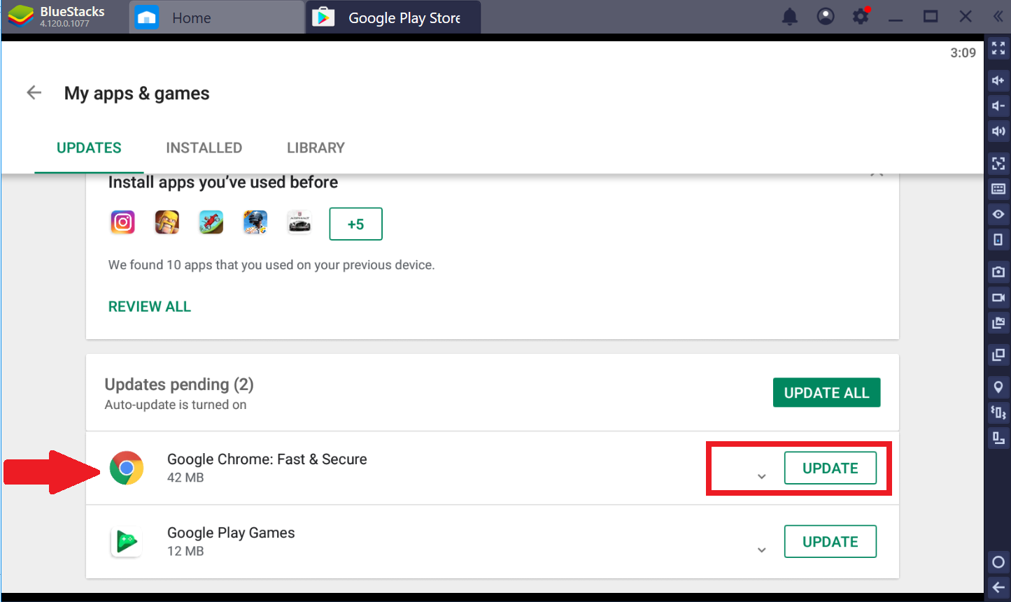 How can I update the apps from Google Play Store? – BlueStacks Support