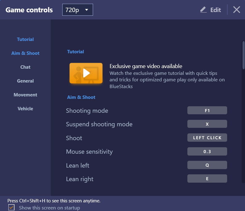 How to view or edit existing keyboard controls in BlueStacks
