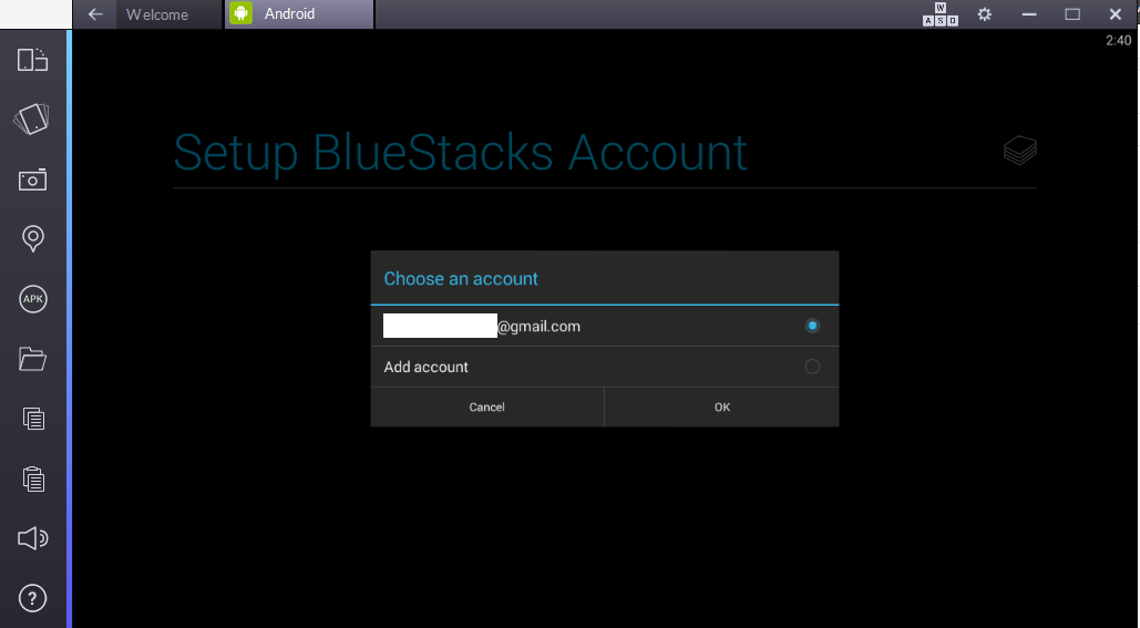 What should I do if I cannot login/sign in on BlueStacks